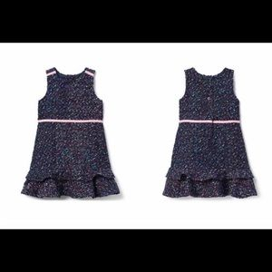 341111b5e Navy Blue Bouclé Dress